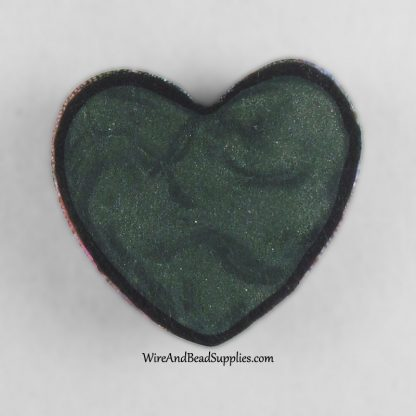 Pink and purple foil polymer clay heart cabochon