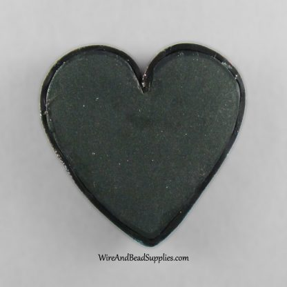 Pink and Blue Polymer Clay Heart Cabochon